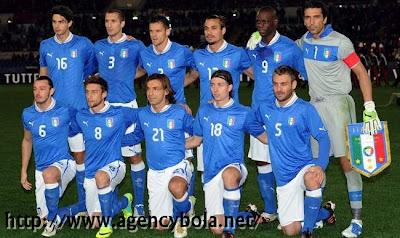 Profil Tim Italia di Piala Eropa 2012