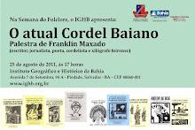 Palestra: O Atual Cordel Baiano