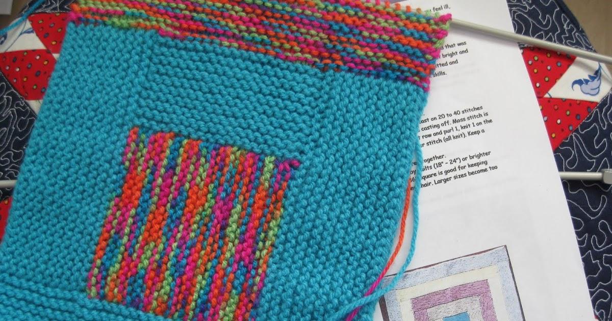 Knitting Picking Up Stitches Evenly : Needlecraft Corner: No Sew Log Cabin Blanket