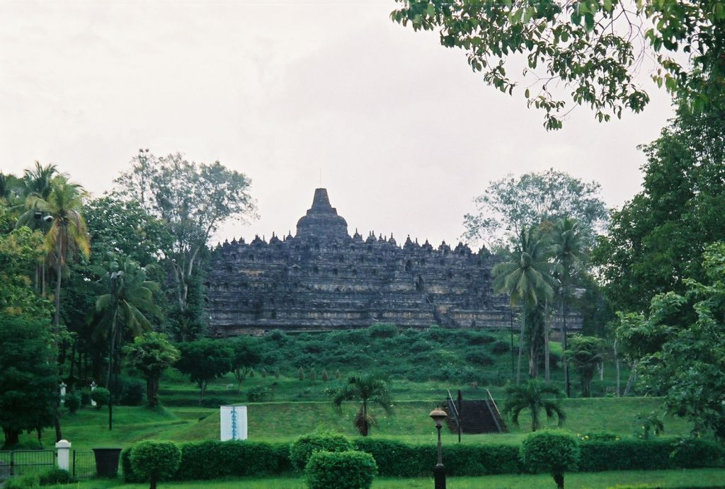 Full Picture Borobudur Temple Indonesia