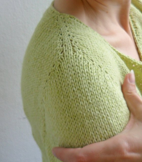 Knitting Increases For Sleeves : Fibermania contiguous set in sleeve
