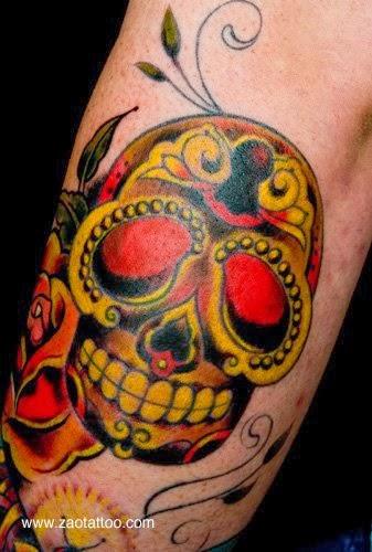 Tattoo Caveira Mexicana Caveirinha