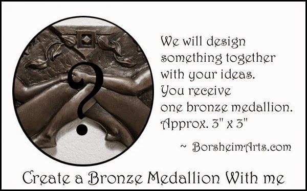 Kickstarter $650 reward create bronze medallion commission consult art