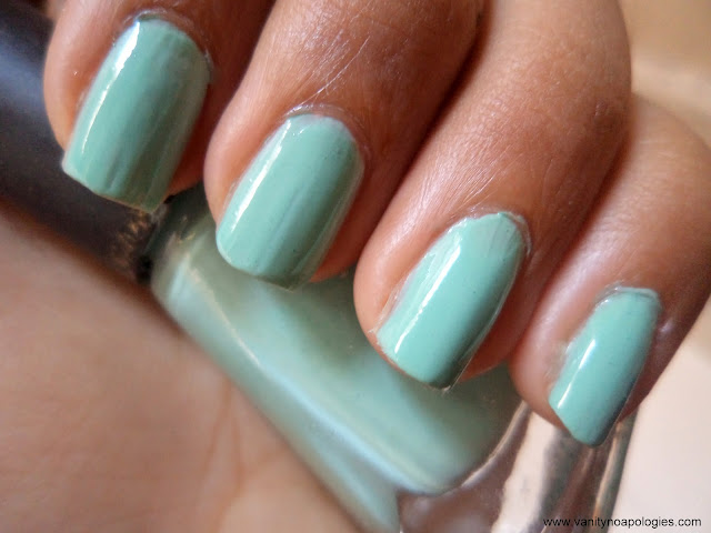 pastel nail colors mint blue