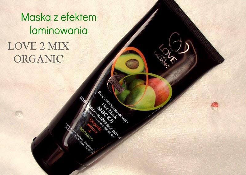 Pervoe Reshenie, Love2MIX Organic, Maska regeneracyjna do włosów zniszczonych z efektem laminowania `Mango i awokado`