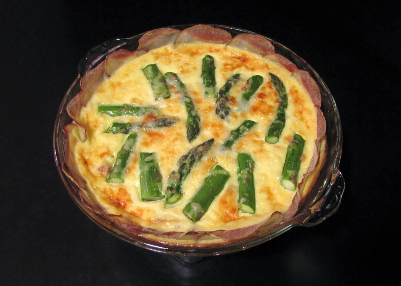 ... Food in Here: Asparagus, Mushroom and Ham Quiche with a Potato Crust