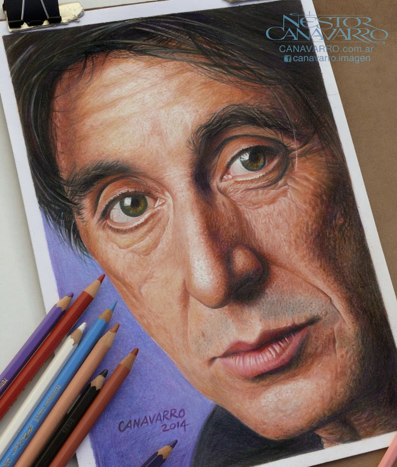06-Al-Pacino-Nestor-Canavarro-Celebrity-Portraits-Animated-Drawings-www-designstack-co