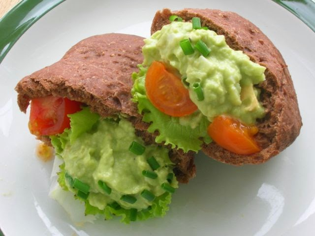 Avocado Stuffed Pitta Breads