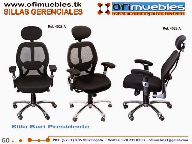 Sillas gerenciales y presidenciales sillas para oficina for Sillas para oficina bogota