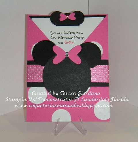 INVITACION DE CUMPLEA  OS DE MINNIE MOUSE