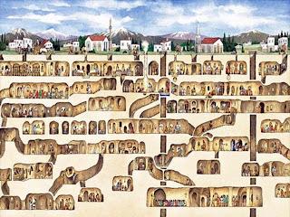 مدينة الجن -  ديرينكويو - تركيا