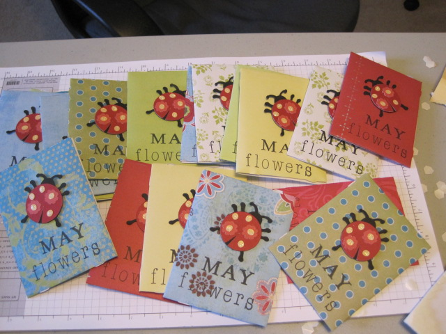 Baby Shower With A Spring/ladybug Theme Using The Paisley Cricut Cartridge