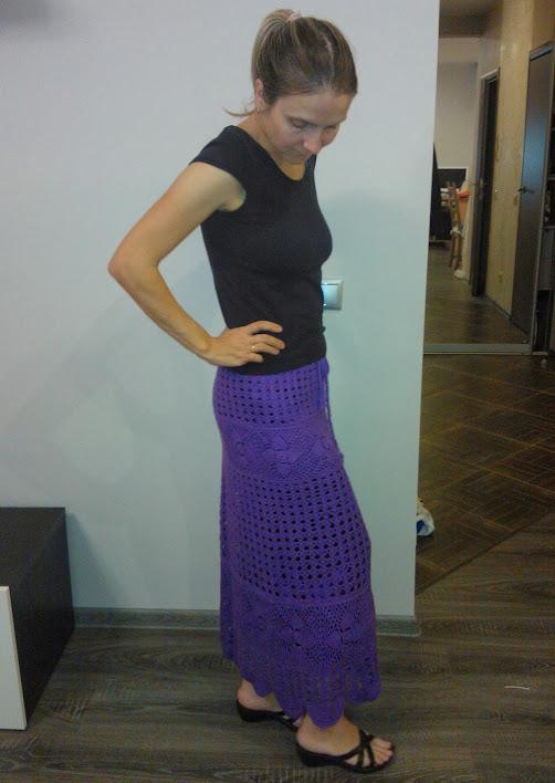 Вязание крючком простой юбки Описание