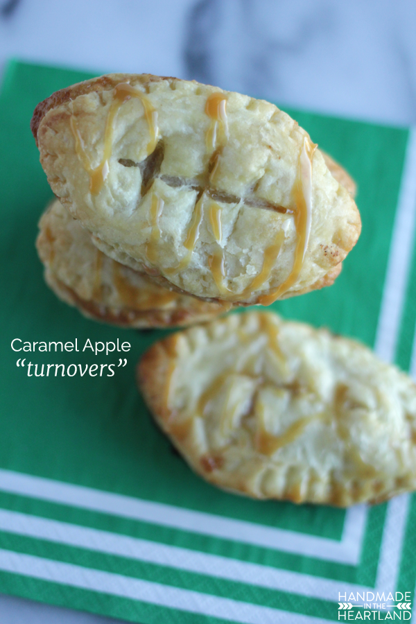 Football Party Dessert, Caramel Apple Turnovers