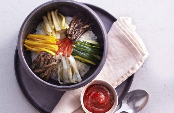 Riz Aux Légumes Et A La Viande De Bœuf