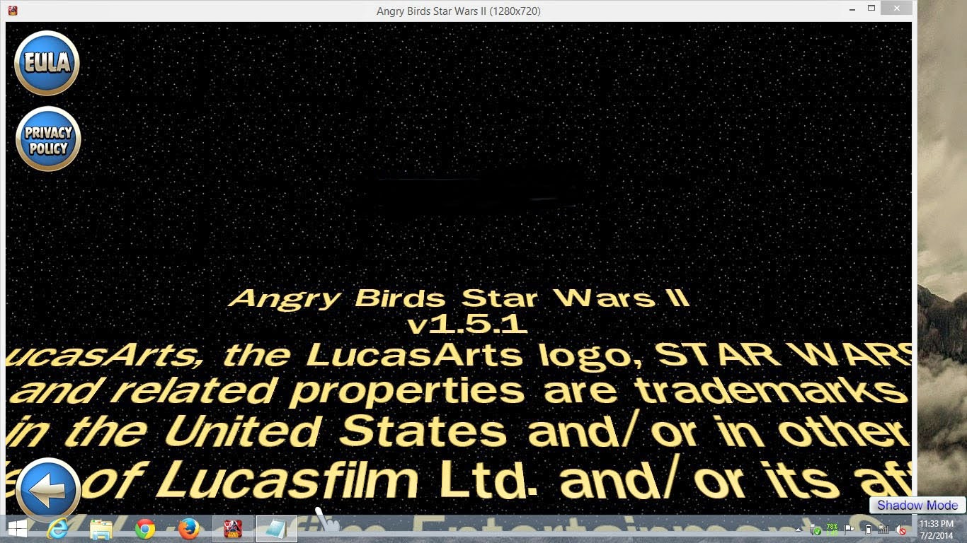 ScreenShoot Angry Birds Star Wars II v1.5.1 Full Patch