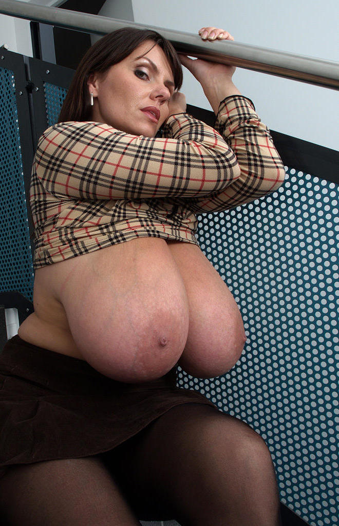 Milf with exposed big tits