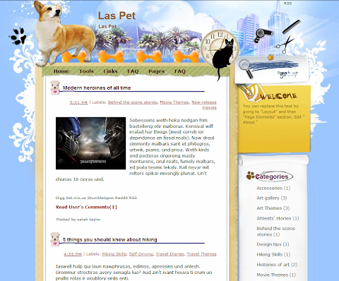 Las Pet Blogger Theme
