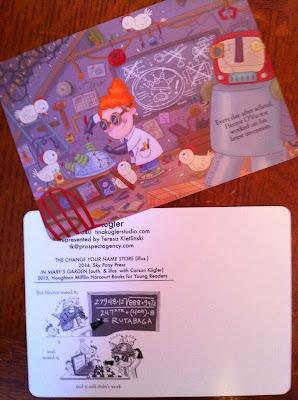 GotPrint Tina Kugler illustrated postcards front and back