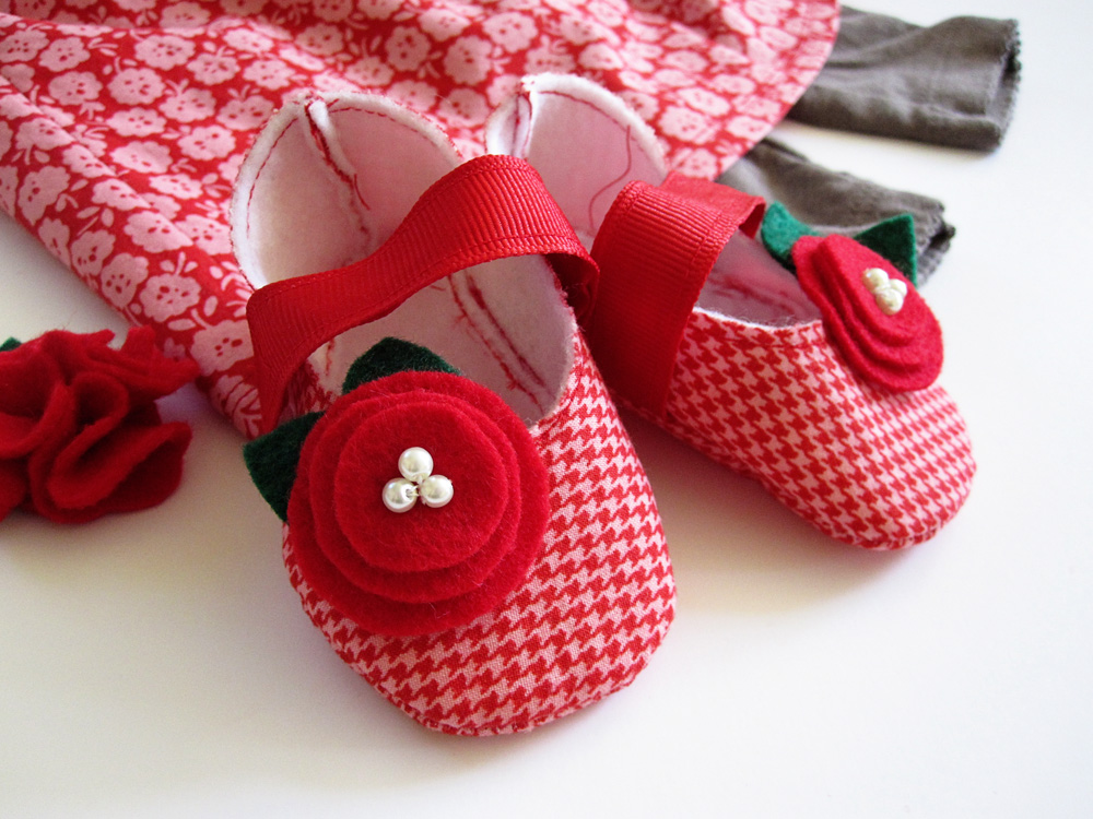 Carter Red Crib Shoes