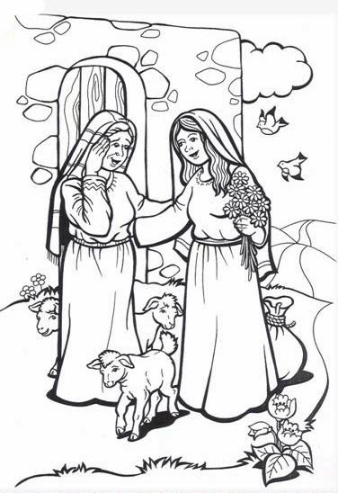 elizabeth bible coloring pages - photo#11