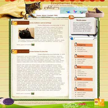 Restless Heart Syndrome blogger template. converted WordPress to Blogger template. pet template blog