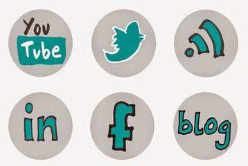 Dibujos botones compartir internet