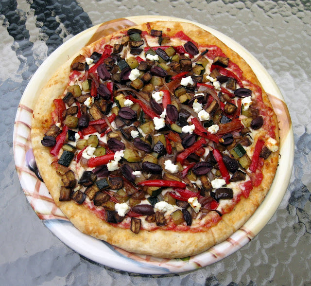 Food For Thought Roasted Vegetable And Goat Cheese Pizza