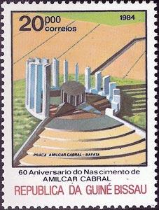60 Aniversario del nacimiento de Amílcar Cabral, Monumento conmemorativo en Bafata, Guinea Bissau, 1984