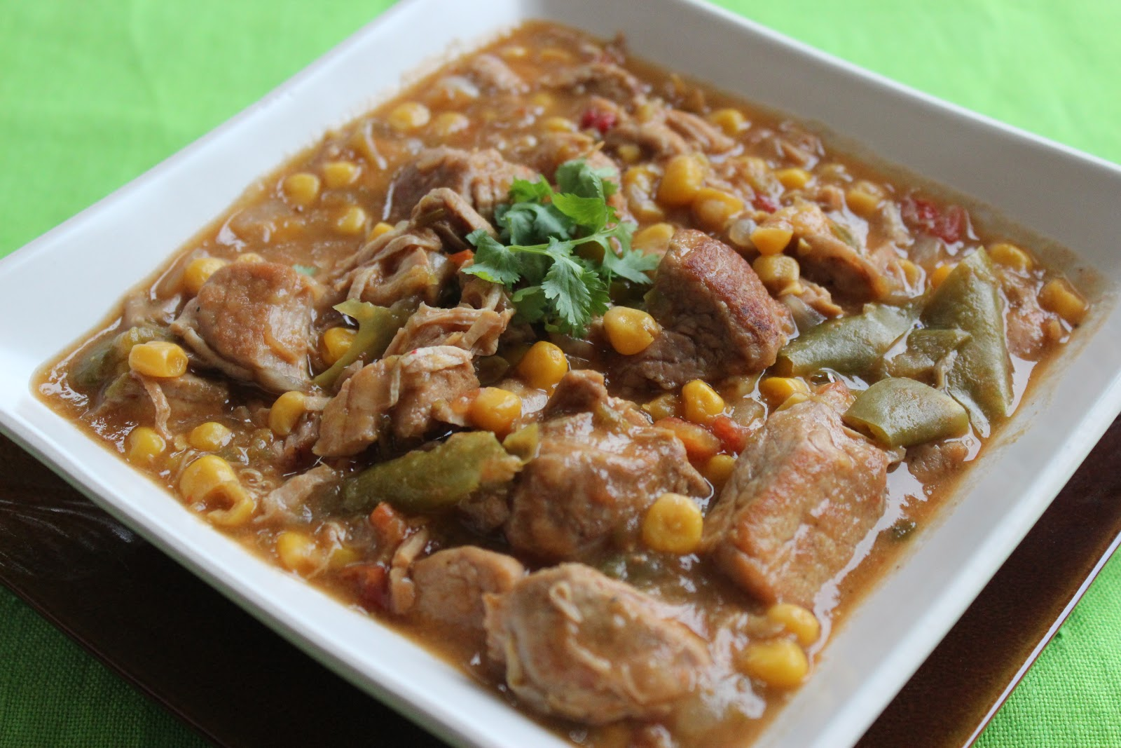The Apron Gal: Crock Pot Pork and Green Chile Stew