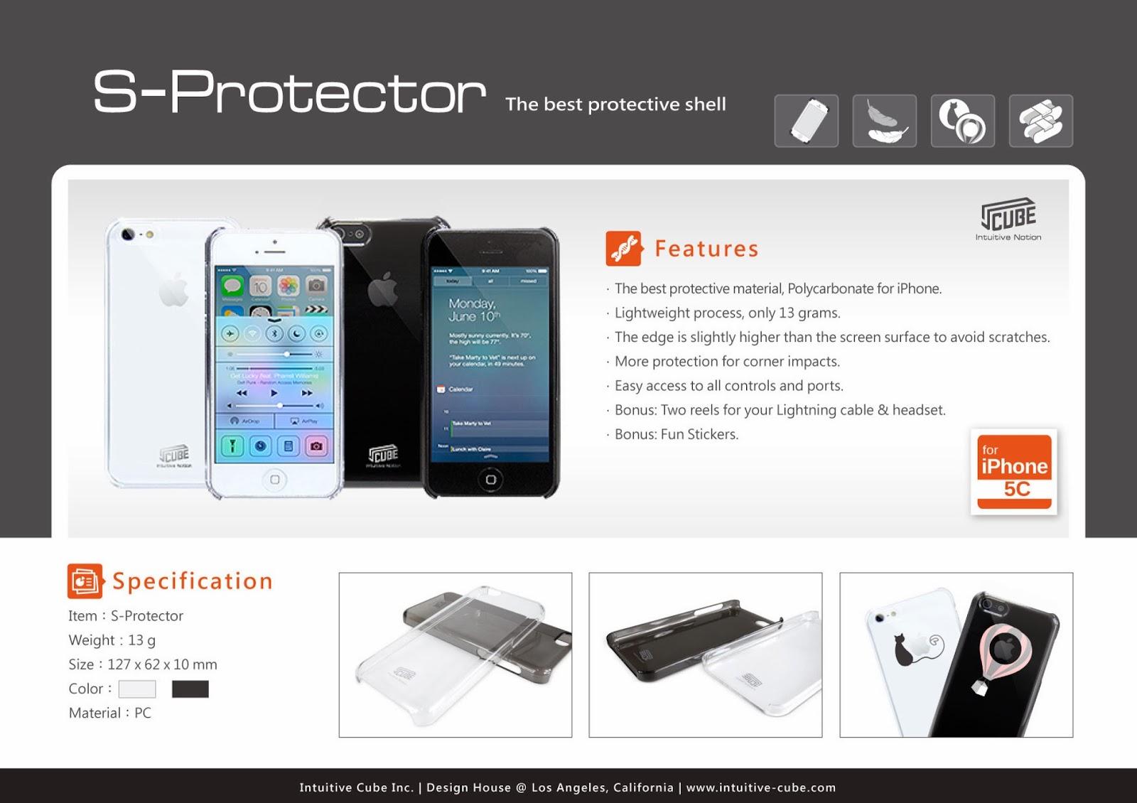ICUBE iPhone5S Case // HQ TRANSPARENT CASE // Anti Scratch