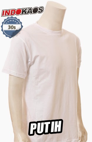 Kaos Polos Putih Combed 30s