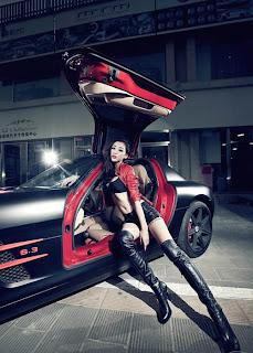 Mercedes, Benz, Mercedes-Benz, C63 AMG, Sexy girl, car model