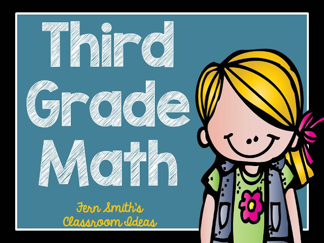 Fern Smith's Classroom Ideas Third Grade Math - Unit One - Task Cards for sale at TeachersPayTeachers.
