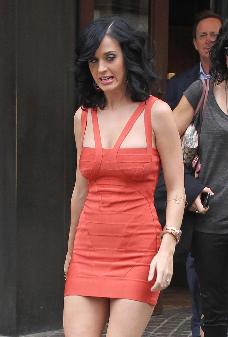 Gorilla Fight: Katy Perry Brings The Sexy In A Skin Tight