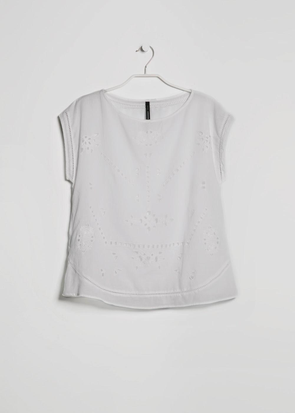 Blusa bordado ingles MANGO
