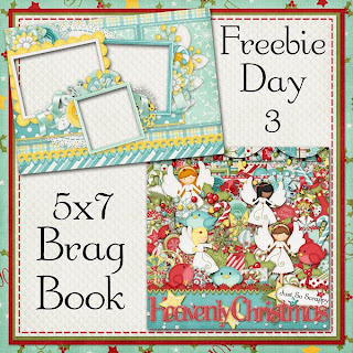 Heavenly Christmas 5x7 Brag Book Freebie Day 3
