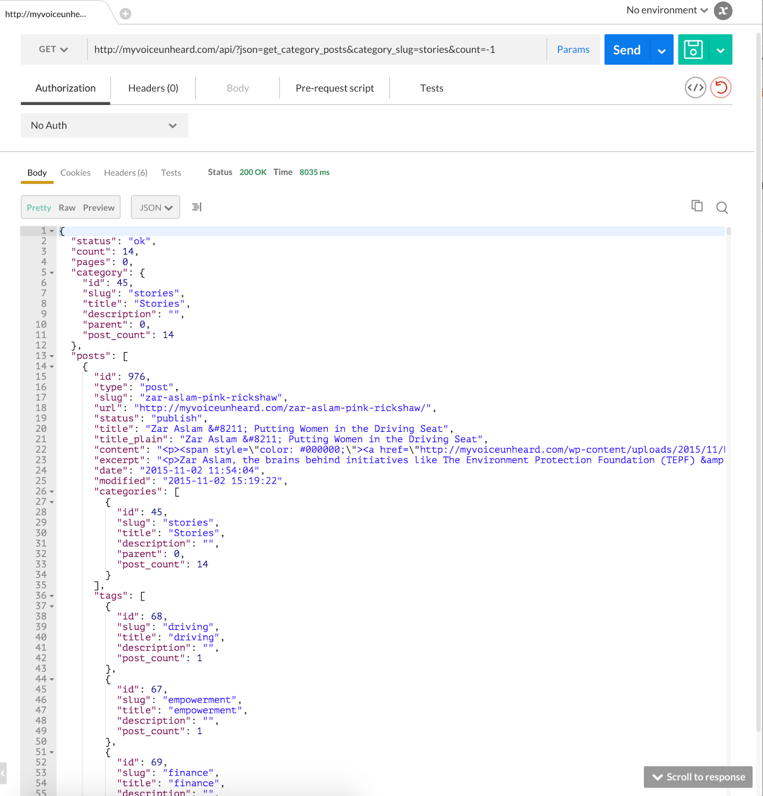 My ios learning ios app tutorial using wordpress json api understanding json baditri Choice Image