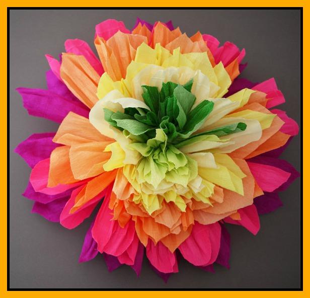 Ανοιξιάτικα λουλούδια από γκοφρέ