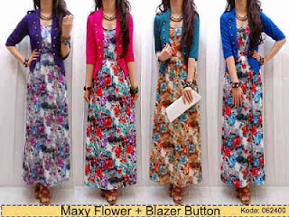 Maxi Flower + Blazer fit to L