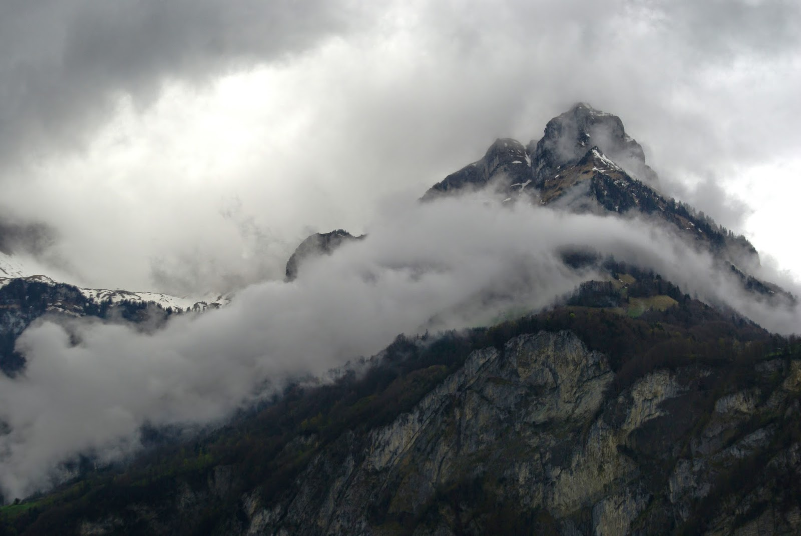 Swiss Alps with cloud