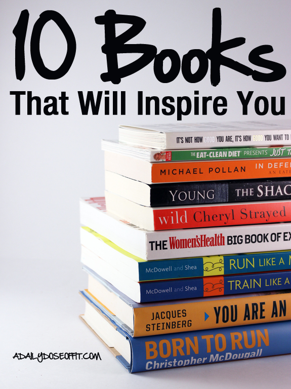 Fill your library with motivational books, including these about running, clean eating and religion.
