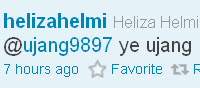 Bergayut di talifon Bersama Heliza Helmi