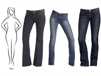 Jeans yang sesuai dengan bentuk tubuh kamu..