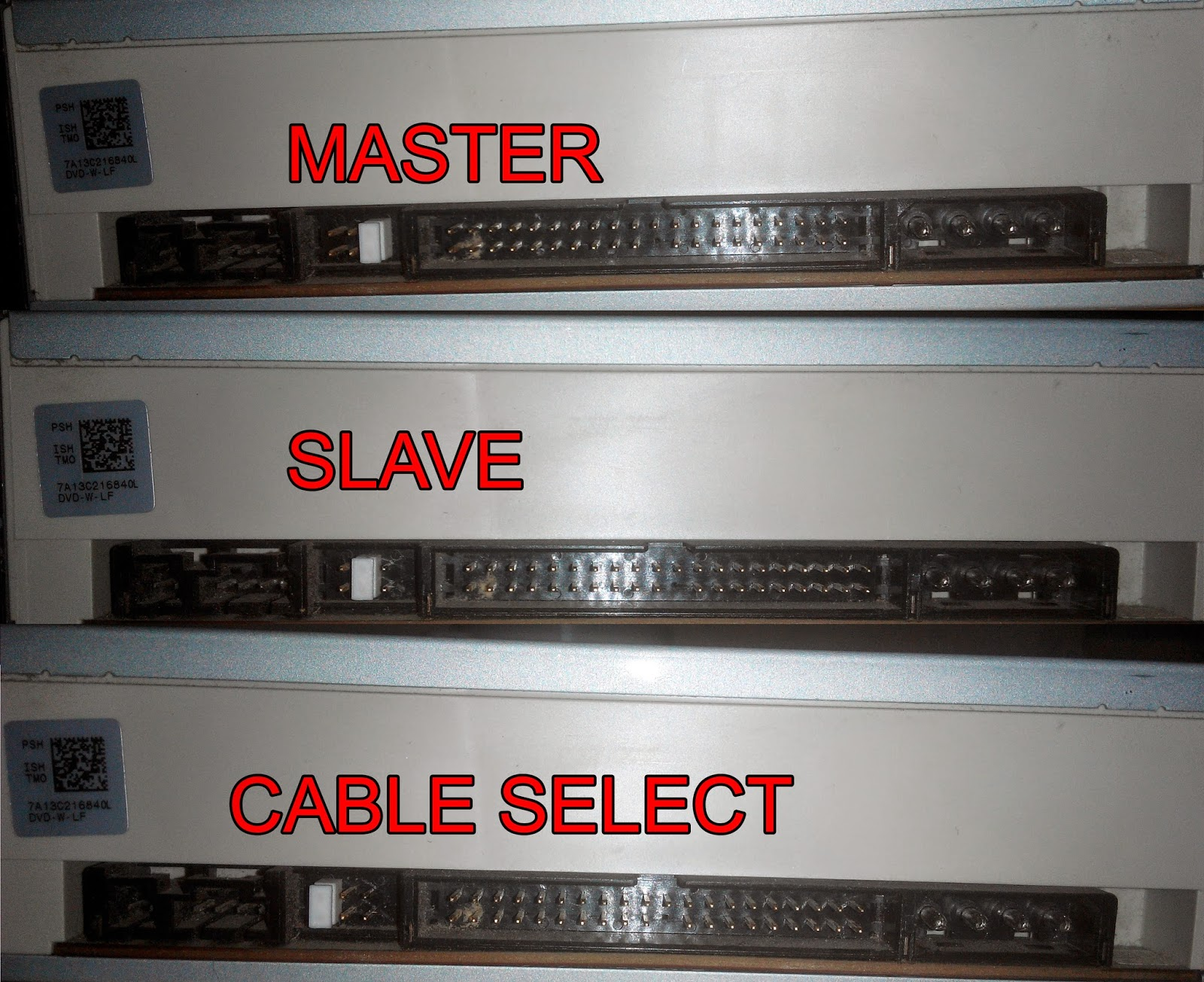 how to set jumpers to cable select