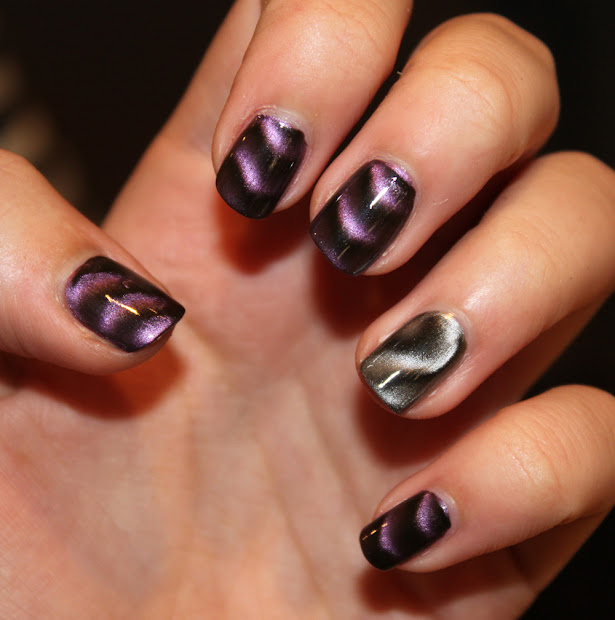 nails . magnetic polish