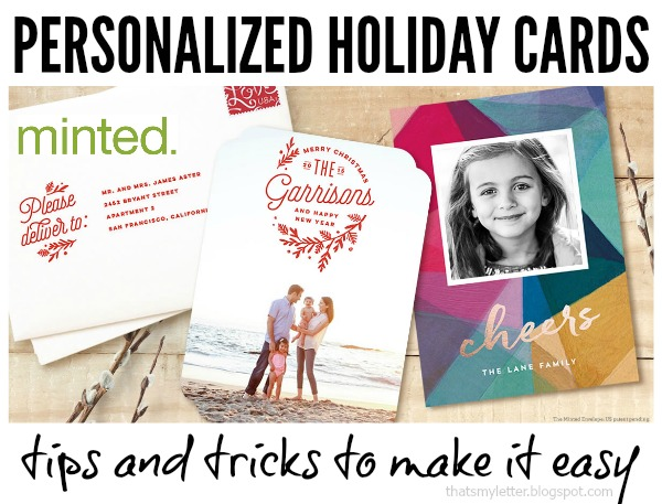 easy personalized holiday cards - Personalized Holiday Cards