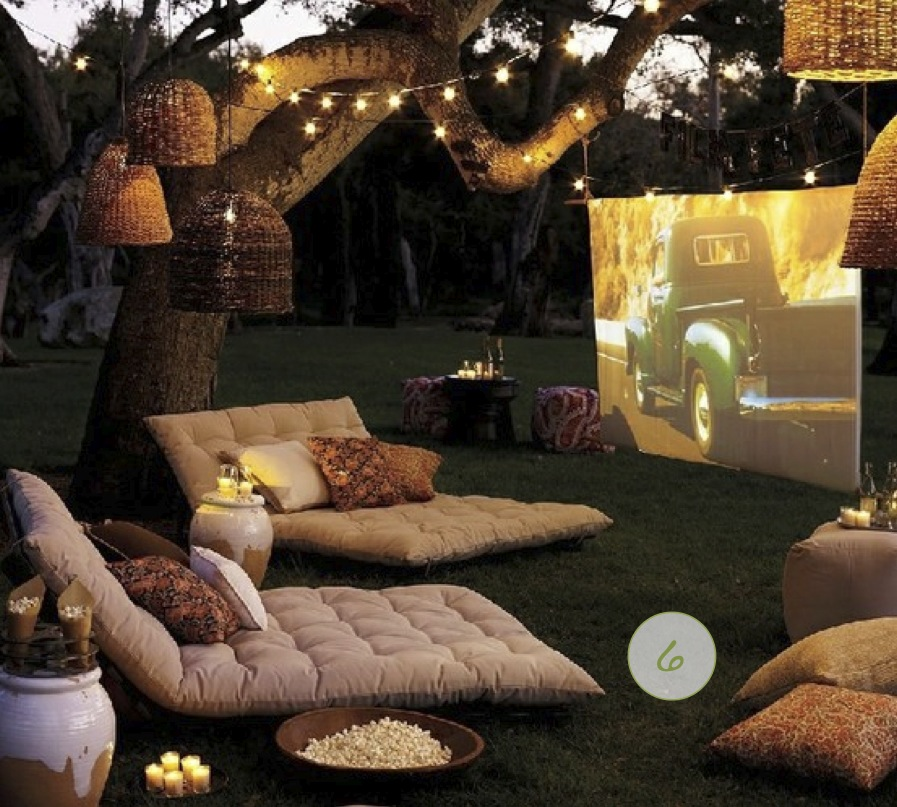 Fun Backyard Ideas For Adults : backyard+outdoor+movie+film+partyjpg