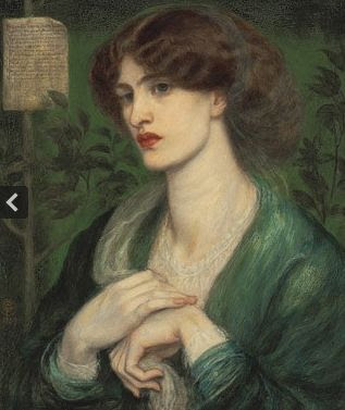Jane Morris as Beatrice - newly discovered portrait by Rossetti