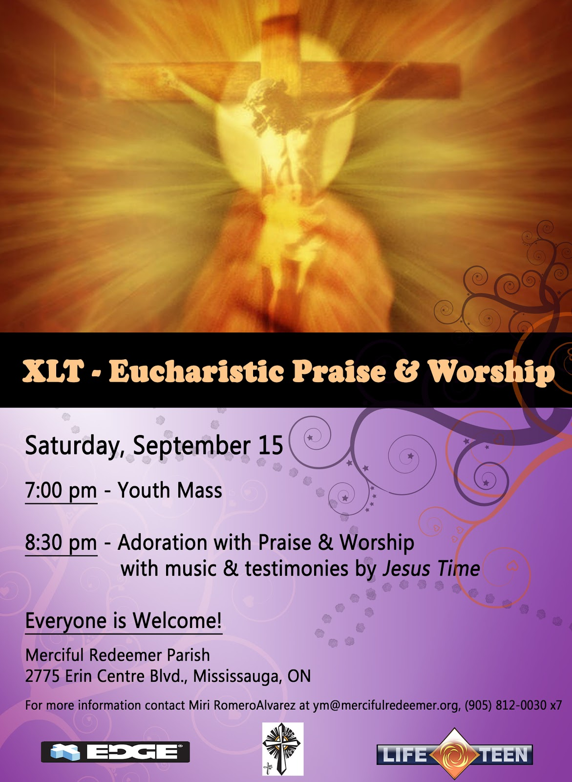 (XLT= eXaLT or X-Treme LifeTeen) Adoration with Praise & Worship, ...